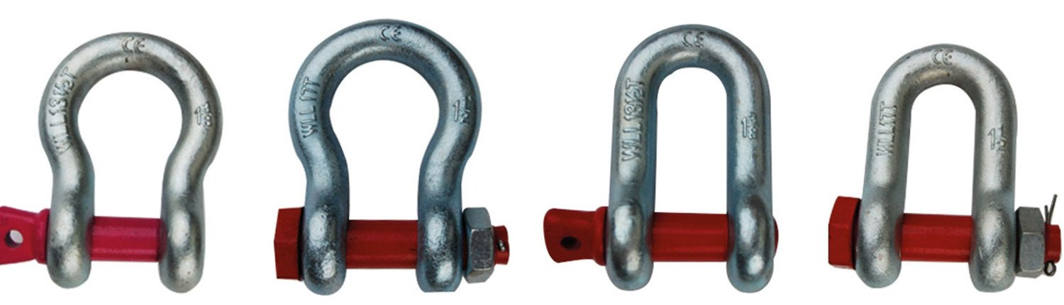 us type shackle, bow shackle safety pin, chain shackle safety pin, dee shackle safety pin, bow shackle screw pin, chain shackle screw pin, dee shackle screw pin