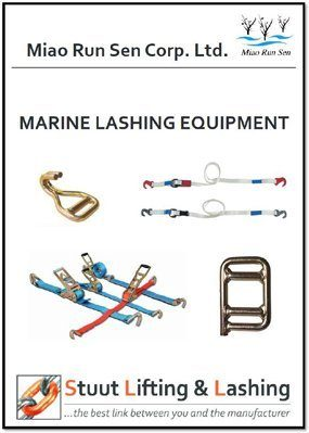 marine lashing products, roro lashing, general cargo lashing, break bulk lashing, lashing equipment, miao run sen